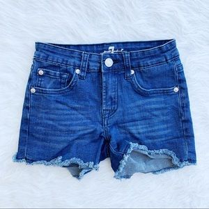 7 FOR ALL MANKIND A Pocket Cut Off Jean Shorts 10